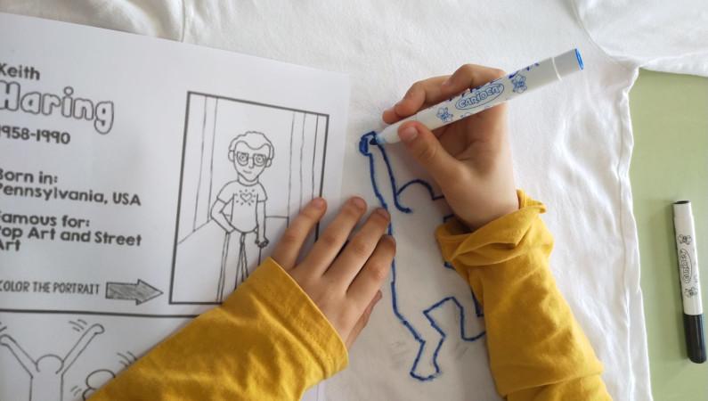 Camisetas al estilo Keith Haring